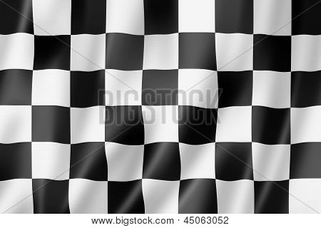 Auto Racing Finish Checkered Flag