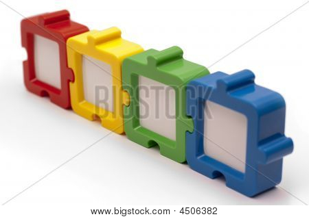 Puzzle Frames In Row