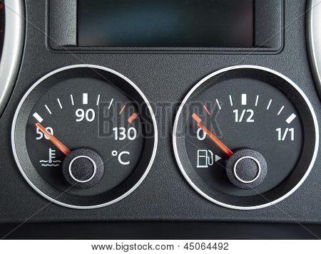 Temperature And Fuel Gauge
