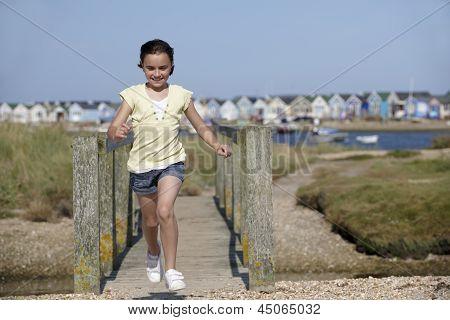 Young Girl Enjoying The Summer