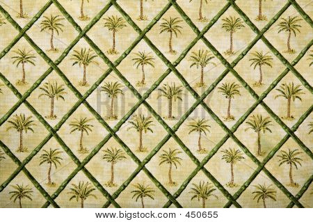 Vintage Tropical Fabric Pattern