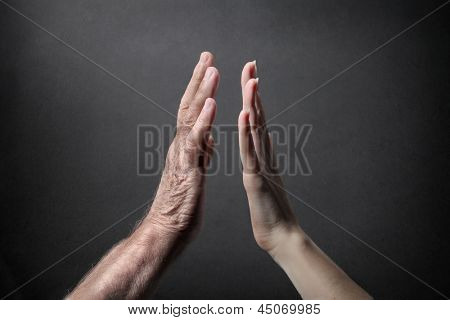 close-up hands that are encountered