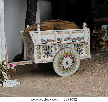 Typical hand painted cart in Costa Rica