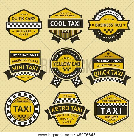 Taxi cab set insignia, vintage style