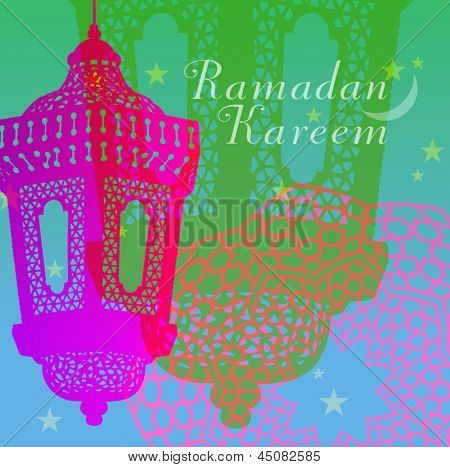 An abstract Ramadan card design