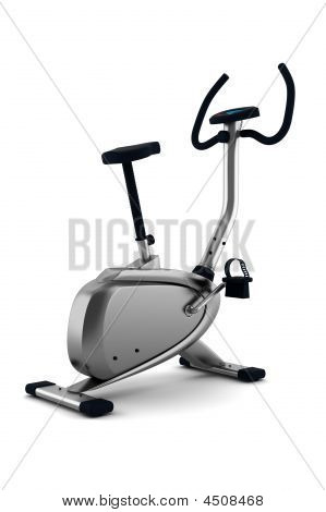 Exercise Bicycle Isolated On White Background