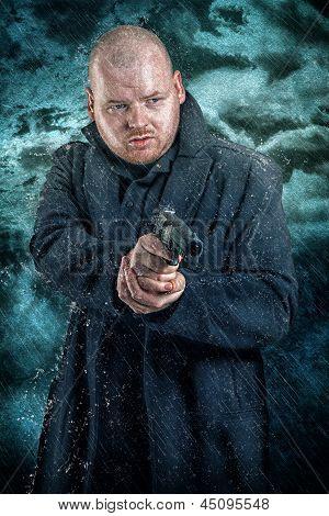 Armed Man With A Handgun