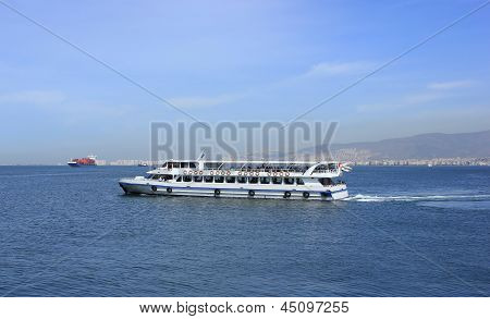 Passenger Ship On Izmir Bay