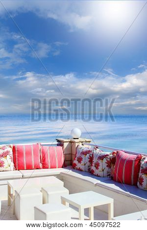 colorful Lounge  by the sea