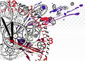 time clock mechanism, vector illustration EPS10 clip-art poster