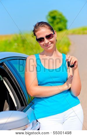 Woman With The Keys To Her New Car