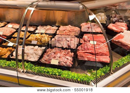 meat in shopping center
