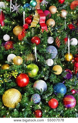 Bulbs On A Christmas Tree
