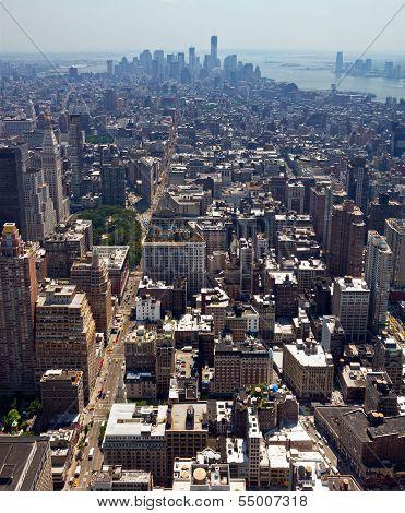 New York City - Downtown Manhattan Skyline