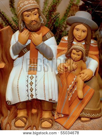 Nativity Scene With Holy Family In South American Version 7