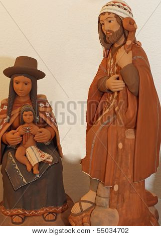 Holy Family With Clothes Bolivians  3