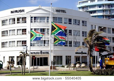 South African Flags Flying At Half-mast