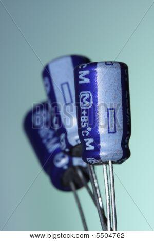 Three Electrolytic Capacitors