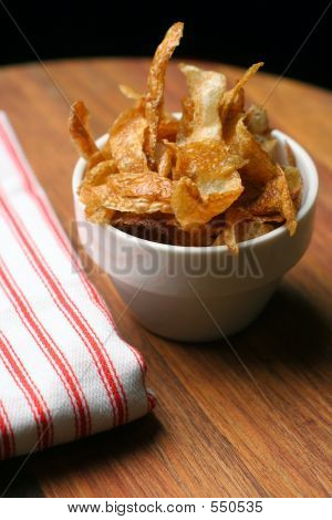 Home-made French Fries And Napkin