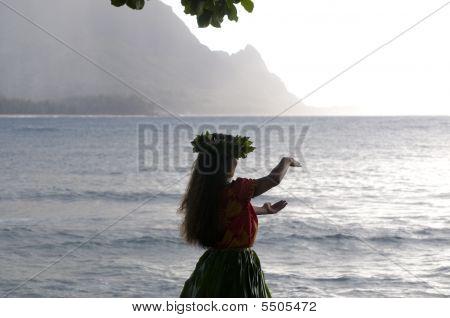 Hula Dancer Silhouette