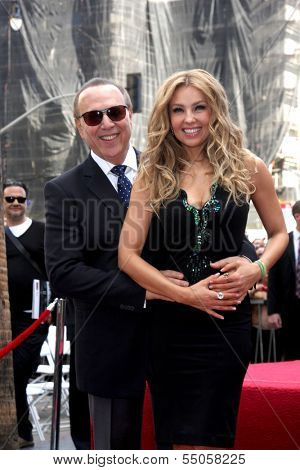 LOS ANGELES - DEC 5:  Thalia, Tommy Mottola at the Thalia Hollywood Walk of Fame Star Ceremony at W Hollywood Hotel on December 5, 2013 in Los Angeles, CA