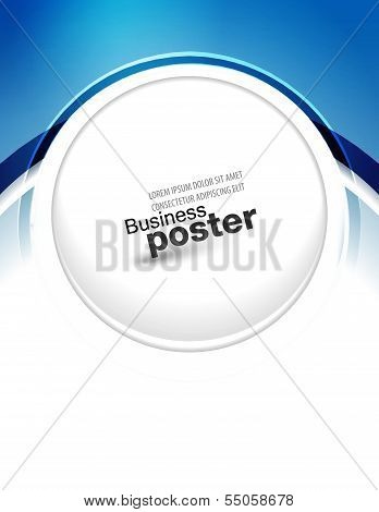 Stylish blue presentation of business poster