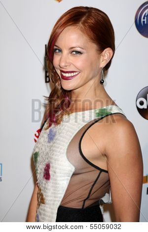 LOS ANGELES - DEC 4:  Amy Paffrath at the Junior Hollywood Radio & Television 2013 Society Holiday Party at Lure Nightclub on December 4, 2013 in Los Angeles, CA