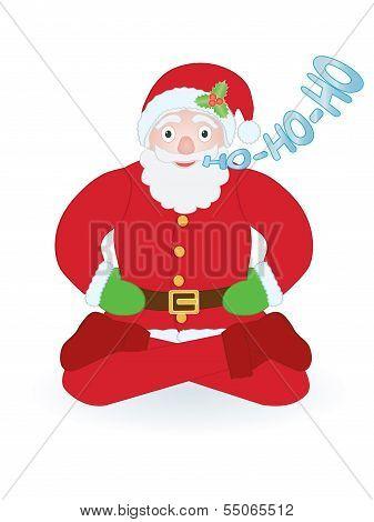 Santa Claus Sitting As Yogi