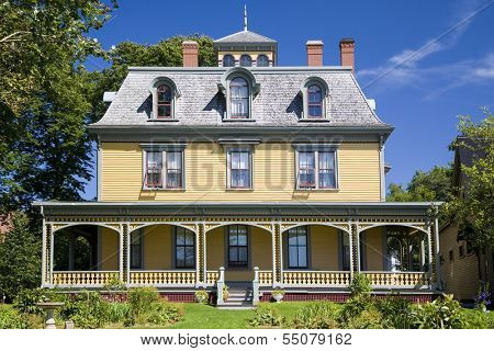 Built in 1877, this beautiful Victorian home, Beaconsfield Historic House is  in Charlottetown, Prince Edward Island, Canada. Built by shipbuilder and merchant James Peake.