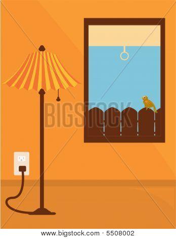 Indoor Lamp Scene