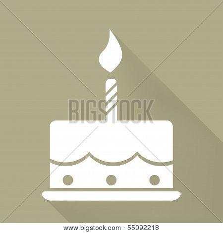 Birthday cake web icon