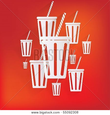 Cold drink web icon. This is file of EPS10 format. poster