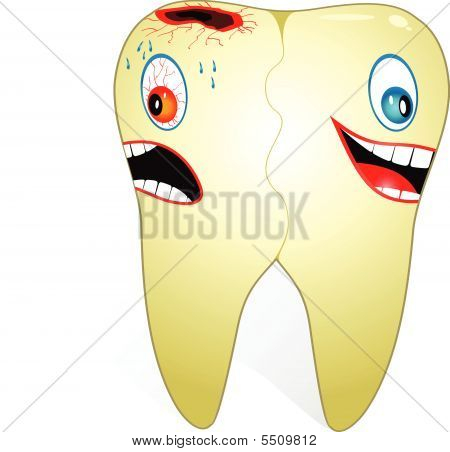 Tooth With Two Faces