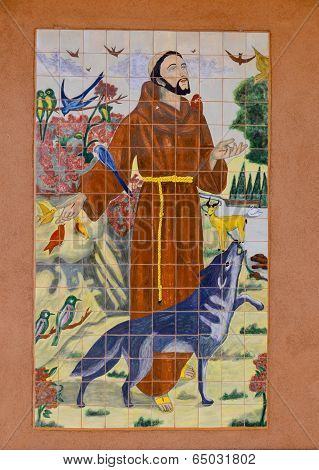 Fresco Saint Francis d'assisi