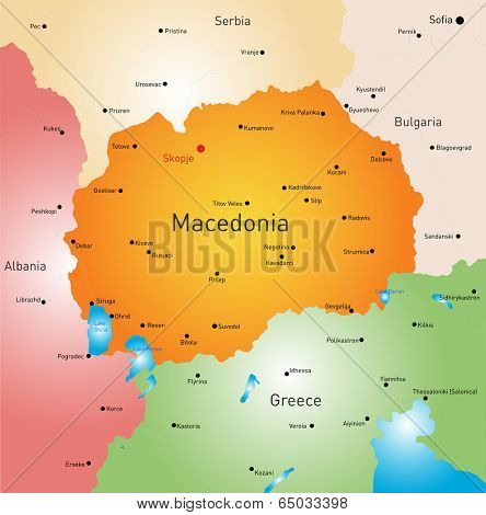 vector color map of Macedonia country