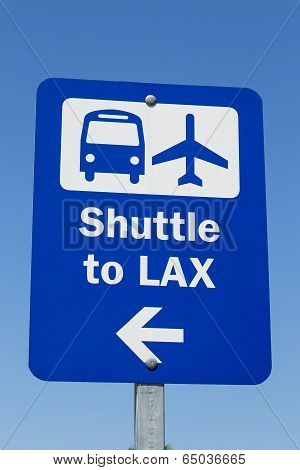 LAX Shuttle Sign