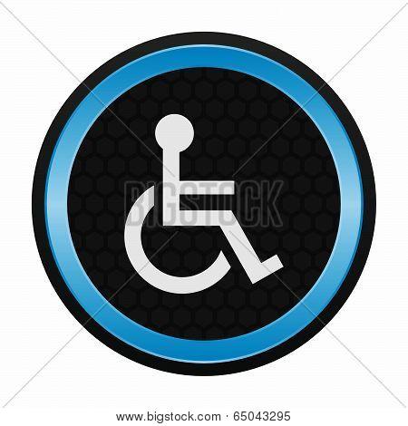 Handicap or wheelchair person icon