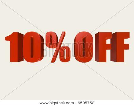 Ten Percent Off Sign