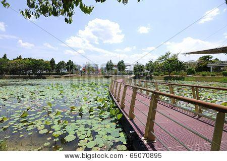 Floating Bridge at Cyberjaya Lake