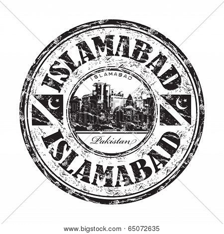 Islamabad grunge rubber stamp