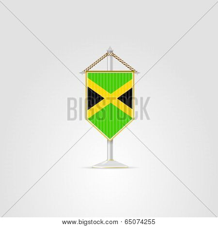 Illustration of national symbols of Caribbean countries. Jamaica.