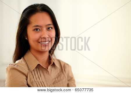 Asiatic 25-29 Years Woman Smiling At You