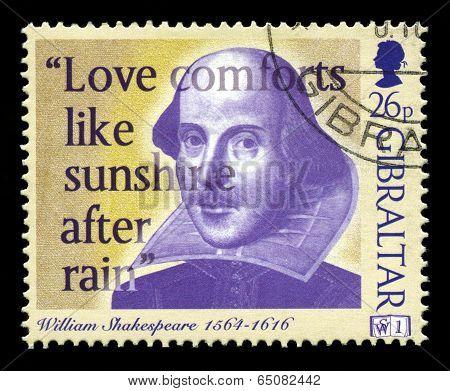 William Shakespeare Postage Stamp