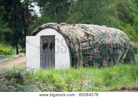 Military Building In Wood Camouflage
