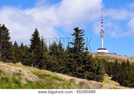 Praded peak in Jeseniky mountains