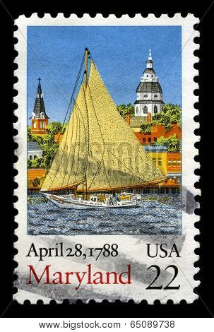 Maryland Us Postage Stamp
