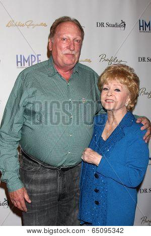 LOS ANGELES - MAY 14:  Jeffrey Jones, Debbie Reynolds at the