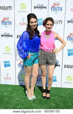 LOS ANGELES - JUL 27:  Vanessa Marano, Laura Marano at the Variety's Power of Youth  at Universal Studios Backlot on July 27, 2013 in Los Angeles, CA