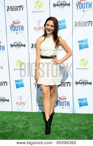LOS ANGELES - JUL 27:  Madison Davenport at the Variety's Power of Youth  at Universal Studios Backlot on July 27, 2013 in Los Angeles, CA