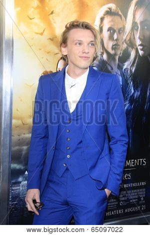 LOS ANGELES - AUG 12:  Jamie Campbell Bower at the